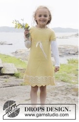Patrones gratis vestido tejido niña